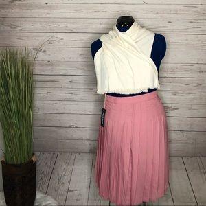 Modcloth pink pleated skirt szS NWT